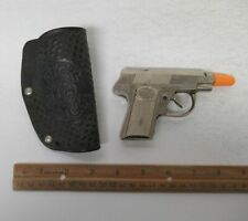 Vintage DICK TRACY Hubley? Diecast Toy Cap Gun w/Mattel Holster Detective yz4262