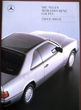Prospekt Mercedes W124    230CE  -  300CE  8/88 engl.