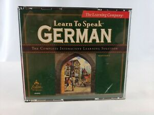 Learn to Speak German - 4 CD ROM - The Learning Company - No Book - Free Ship