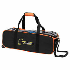 Hammer 3 Ball Roller Tote Black/Orange Bowling Bag