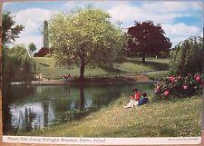 Irish Postcard PHOENIX PARK Wellington Mnmt Dublin Ireland John Hinde 2/254 1966