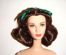 Nude Barbie Scarlett O'Hara Green Eye Brunette Barbie Doll For Ooak bn991