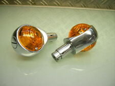 2xNEW 6 VOLT BULL´S EYE 22MM HANDLE BAR INDICATOR TURN SIGNAL FLASHER XT 250 500