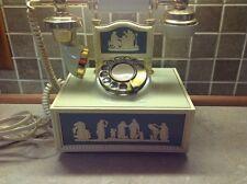 Vtg Deco Tel French Victorian Style Rotary Telephone Ivory & Brass Renaissance