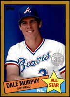 Dale Murphy 2020 Topps 1985 35th Anniversary All-Stars 5x7 Gold #85AS-28 /10 Bra