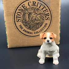 STONE CRITTERS FIGURINE ANIMAL COLLECTION sculpture Jack Russell terrier dog box
