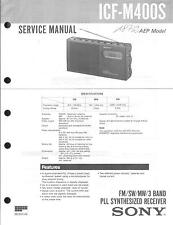 Sony Original Service Manual  für ICF-M400S