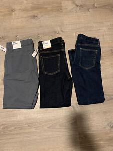 New Lot Of 3 Boys Pants Size 12 Gap Old Navy