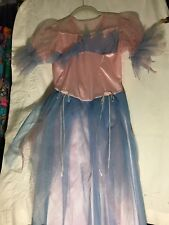 Child DRESS Princess playtime Costume BARBIE Blue Pink Netting Sparkles Size Med