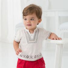 Boys White Kaftan Style Top Size 4 years Brand New