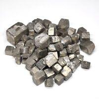 1/2lb Natural Chalcopyrite Quartz Crystal Bulk Tumbled Mineral Pyrite Specimen