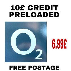 O2 Pay As You Go Sim Card Preloaded 10£ Credit Preloaded Triple Cut Sim