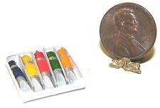Dollhouse Miniature Artist Paint Tube Box Set International Minis 1:12