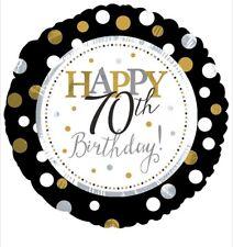 "Happy 70th Birthday 18"" Balloon Birthday Party Decorations"