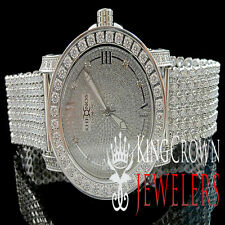 Mens New White Khronos JoJino JoJo Joe Rodeo One Row Bezel Genuine Diamond Watch