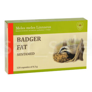 BADGER FAT Dachsfett 120 capsules Барсучий жир СУСТАМЕД
