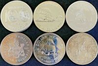 Canadian Silver Dollar Coins Set of Six