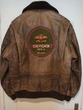 VINTAGE 80's CHEVIGNON AVIATEUR , CUIR VIEILLI, PATCHS RAF TYPE B,TAILLE L