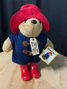 Paddington bear RARE signature red gumboots wellies toy doll NEW condition