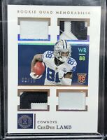 CeeDee Lamb Rookie 2020 Encased Quad Jersey Patch Name Plate #2/15 SSP COWBOYS