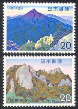 Japón 1973 Parque Nacional/Montaña/Rocas/árboles/Naturaleza/Ambiente 2v Set (n23716)