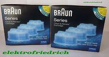 6 x BRAUN Reinigungskartuschen CCR Clean&Renew NEU&OVP 2x CCR3 oder 3x CCR2