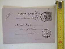 Carte postale avec timbre imprimé 1884 la démocratie franc-comtoise Doubs