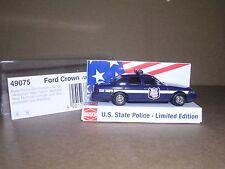 "Busch #49075 1998 Ford Crown Victoria ""Wisconsin State Trooper"" Black H.O.Gauge"