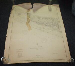 1913 NAUTICAL CHART Map FLORIDA REEFS FROM NEWFOUND HARBOR KEY BOCA GRANDE #43