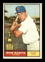 1961 Topps #35 Ron Santo ROOKIE RC EX+/EX-MT LOOK!