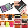 Women Men Card Holder Pocket Credit ID Wallet Leather Purse Mini Samll Clutch