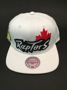 Toronto Raptors Canada Day White Snapback Hat by Mitchell & Ness