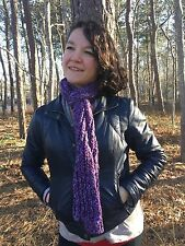 Mixed Purples Handknit Scarf