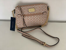 NEW! TOMMY HILFIGER BLUSH PINK GOLD CHAIN MESSENGER CROSSBODY SLING BAG $69 SALE