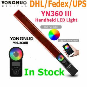 "YONGNUO YN360III RGB Led Video Light Handheld Light stick 3200K-5500K w"" Remote"