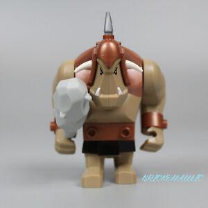Lego Troll 7036 Dark Tan with Copper Armor Fantasy Era Castle Minifigure