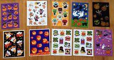 10 Sheets HALLOWEEN Pumpkin Jack o Lantern Ghost Skeleton EEK Scrapbook Stickers