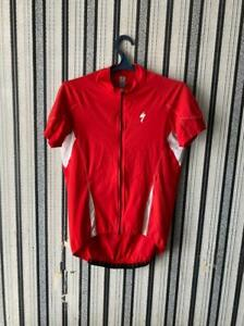 Specialized Jersey Cycling Shirt Racing Jersey Bike  Red Full Zip Men size XL