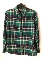 BARBOUR Ladies Regular Fit Brushed Cotton Feel Green Long Sleeve Shirt Fits 8