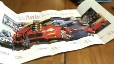 NHRA LARRY MORGAN AUTOGRAPHED CHEVY THUNDER POSTER