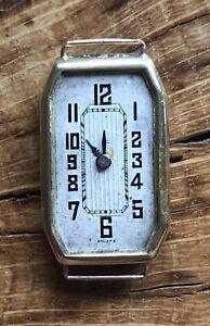 Vintage 18ct Gold Swiss Ladies Art Deco Cocktail Wristwatch Watch London 1929