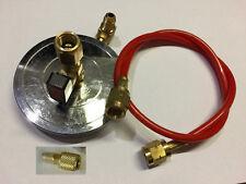 Kit supporto bombola R600a R134a R290 1/4  5/16 e 7/16 + tubi e adattatori
