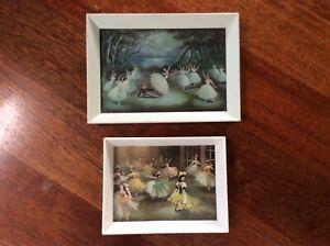 2 x Vintage Carlotta Edwards Ballet Prints - Giselle Swan Lake and Vilia
