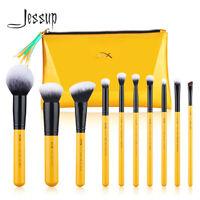 Jessup Make up Brushes Set 10Pcs Powder Foundation Blush Blending Cosmetic Tool