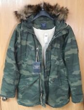 NWT Abercrombie & Fitch Mens B-9 Sherpa-Lined Camo Parka Jacket ~ L