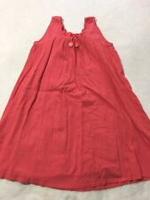 Gymboree 12 Tropical Garden Gauzy Coral Pink Dress Sundress Flowers Girls