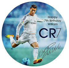 Cristiano Ronaldo EDIBLE PERSONALISED PREMIUM ICING CAKE DECORATION IMAGE TOPPER