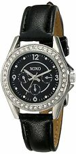 XOXO Women's XO3404 Analog Display Analog Quartz Black Band Watch