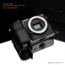 GARIZ Leather Half Case for Sony A6400 A6300 XS-CHA6300BK Black