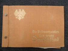 "6308 GERMAN WW2 ORIGINAL "" POSTKARTE series collecters ALBUM ( only) "" 1933-1938"
